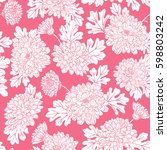 seamless pattern with... | Shutterstock . vector #598803242