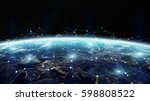 data exchange and global... | Shutterstock . vector #598808522