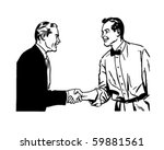 hearty handshake   retro clip... | Shutterstock .eps vector #59881561