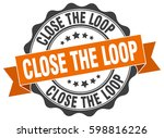close the loop. stamp. sticker. ... | Shutterstock .eps vector #598816226