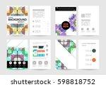 memphis geometric background... | Shutterstock .eps vector #598818752
