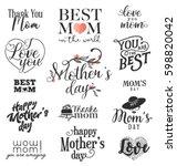 mother's day design elements ... | Shutterstock .eps vector #598820042