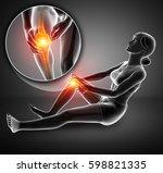 3d illustration of women knee... | Shutterstock . vector #598821335