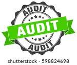audit. stamp. sticker. seal.... | Shutterstock .eps vector #598824698