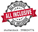 all inclusive. stamp. sticker.... | Shutterstock .eps vector #598824776