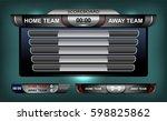 scoreboard broadcast graphic... | Shutterstock .eps vector #598825862