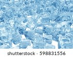 ice cubes background  pile of... | Shutterstock . vector #598831556