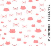 repeated silhouettes of a cat's ... | Shutterstock .eps vector #598837982