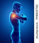 3d illustration of male feeling ...   Shutterstock . vector #598839782