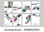 memphis geometric background... | Shutterstock .eps vector #598840505