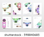 memphis geometric background... | Shutterstock .eps vector #598840685
