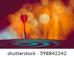 target hit in the center by...   Shutterstock . vector #598842242