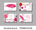 makeup artist business card.... | Shutterstock .eps vector #598844336