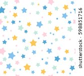 seamless pattern with stars.... | Shutterstock .eps vector #598851716
