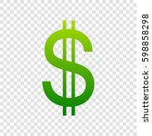 united states dollar sign.... | Shutterstock .eps vector #598858298