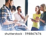 a group of web designers and... | Shutterstock . vector #598867676