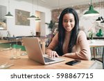 digital marketing specialist is ... | Shutterstock . vector #598867715