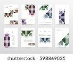 memphis geometric background... | Shutterstock .eps vector #598869035