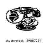 retro telephone 2   clip art | Shutterstock .eps vector #59887234