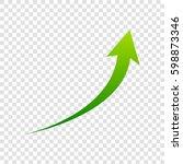 growing arrow sign. vector....
