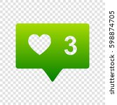 like and comment sign. vector....