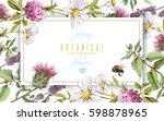 vector horizontal wild flowers... | Shutterstock .eps vector #598878965