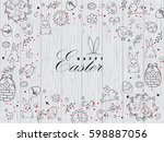 template vector card with eggs  ...   Shutterstock .eps vector #598887056