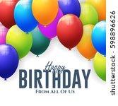 happy birthday concept... | Shutterstock .eps vector #598896626