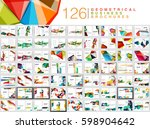 mega collection of business... | Shutterstock .eps vector #598904642