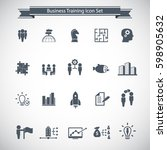 business training icon set | Shutterstock .eps vector #598905632