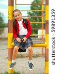 little girl in school | Shutterstock . vector #59891359