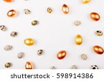 stylish frame background with... | Shutterstock . vector #598914386