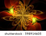 computer generated fractal with ... | Shutterstock . vector #598914605