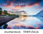 great summer view of the...   Shutterstock . vector #598915616