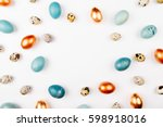 stylish frame background with... | Shutterstock . vector #598918016