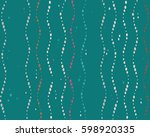 seamless dotted wavy pattern.... | Shutterstock .eps vector #598920335