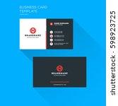 corporate business card print... | Shutterstock .eps vector #598923725