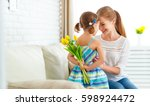 happy mother's day  child... | Shutterstock . vector #598924472