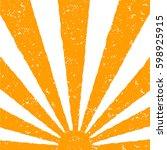 orange sun background. hand...   Shutterstock .eps vector #598925915