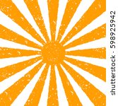 orange sun background. orange... | Shutterstock .eps vector #598925942
