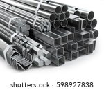 different metal products.... | Shutterstock . vector #598927838