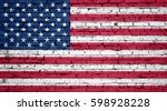 American Flag Painted On A...