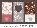 vector magical floral vertical...   Shutterstock .eps vector #598931792