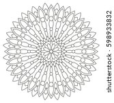 circular geometric ornament.... | Shutterstock .eps vector #598933832
