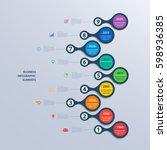 infographics timeline template... | Shutterstock .eps vector #598936385
