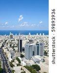 Tel Aviv  Skyline   Aerial View ...