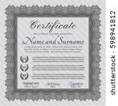 grey certificate template. with ... | Shutterstock .eps vector #598941812