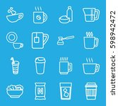 coffee icons set. set of 16... | Shutterstock .eps vector #598942472