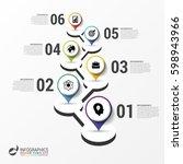 infographic design template.... | Shutterstock .eps vector #598943966