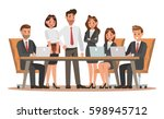 set of business characters... | Shutterstock .eps vector #598945712